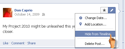 how to hide or remove old posts and status updates from your facebook timeline automatically