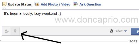 facebook fake location status update