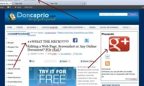 how to edit a website page or online document