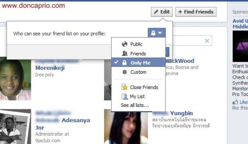 how to hide your friends list from facebook timeline