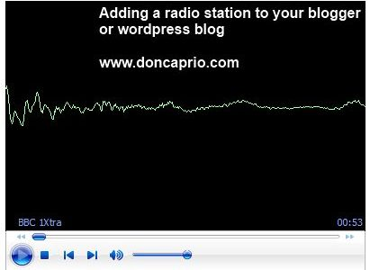embed a radio station in your blog or website
