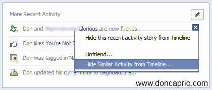 how to hide facebook timeline completely