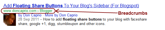 Displaying Breadcrumb in Google Search Result for Blogger & WordPress