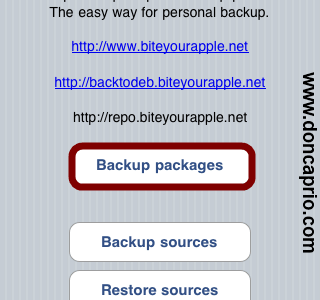 how to backup cydia packages