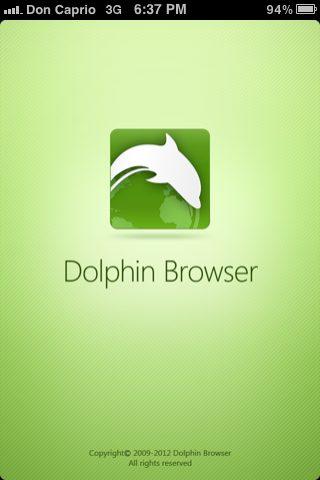 Dolphin - alternative browser to safari