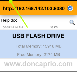 how to use your iPhone as a usb flash drive