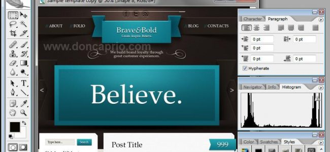 create your own wordpress theme with photoshop