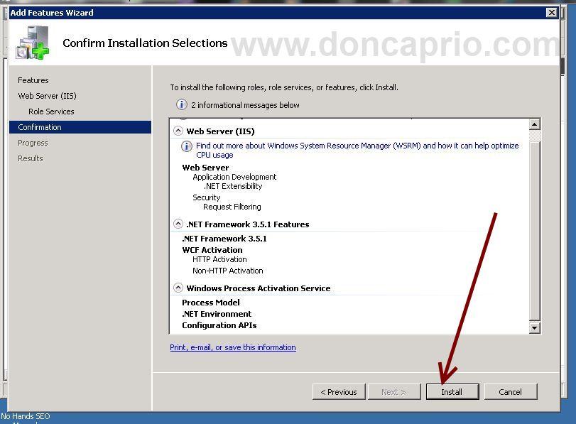 how to install .NET framework 3.5 on Windows Server 2008 R2