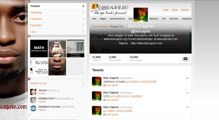 Custom Header and Background Image: Using Twitter Like a Boss