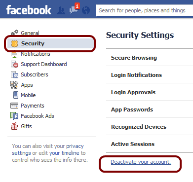 Temporarily Deactivate or Permanently Delete Your Facebook Account