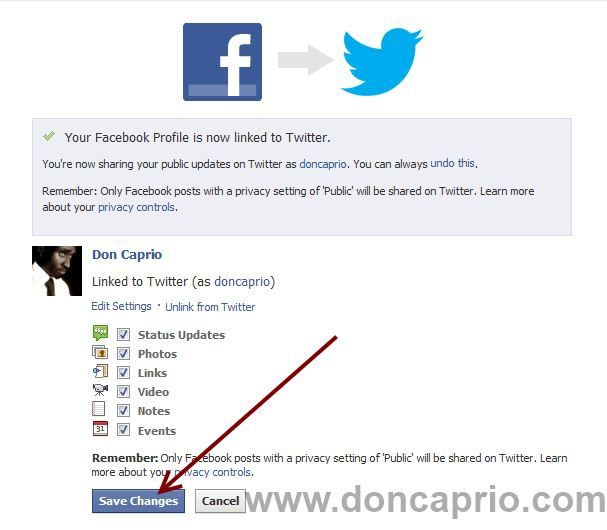 How to Link your Facebook Account with Twitter and Vice Versa