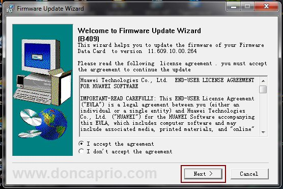 how to upgrade huawei modem firmware