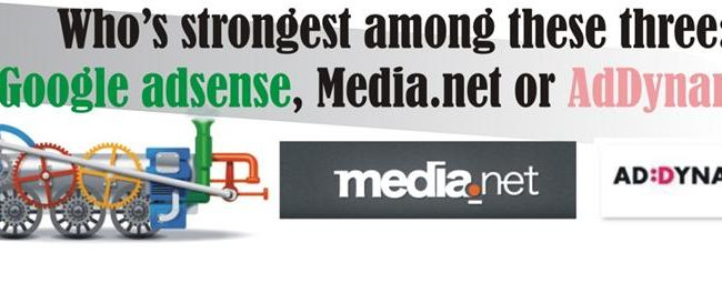 google adsense, addynamo, media.net