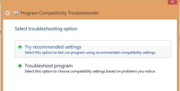compatibilty mode in windows