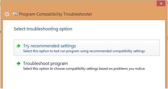 compatibilty mode in windows