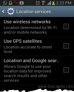 remove location from facebook for android