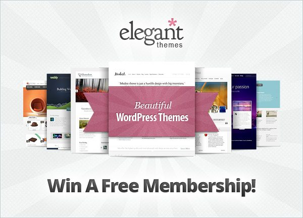 Giveaway #15: Win 3x Elegant Themes Developer Accounts