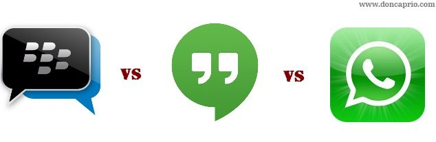 whatsapp vs bbm vs hangouts