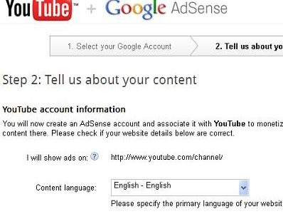 adsense approval through youtube