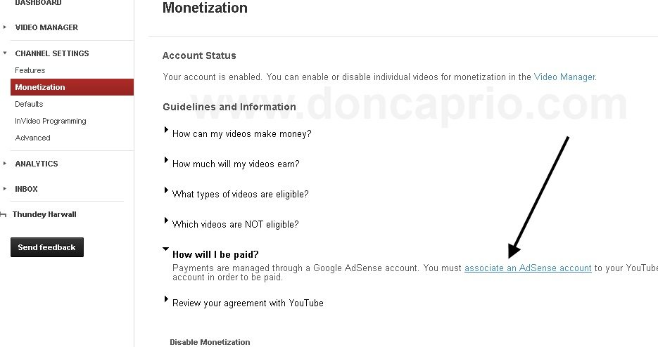youtube adsense approval