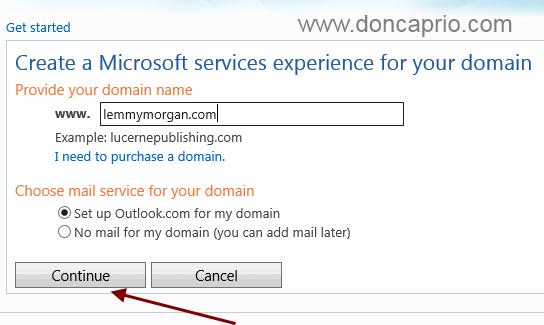 outlook custom email