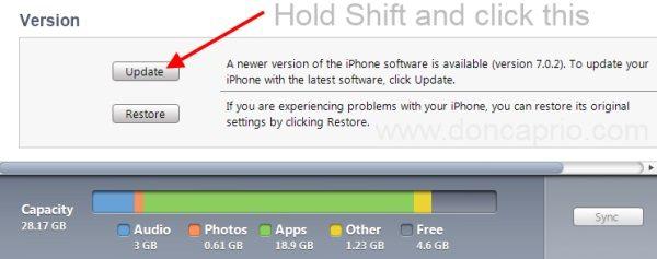 downgrade iOS 7_0