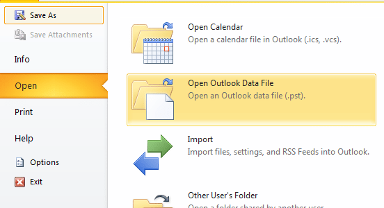 pst file