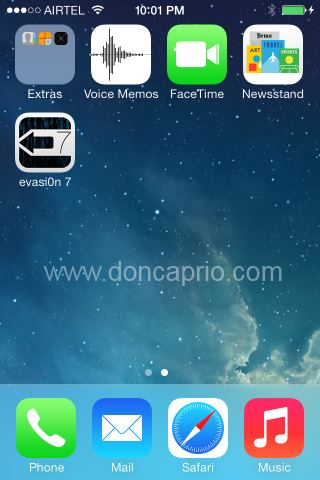evasi0n icon on springboard