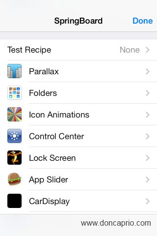hidden springboard settings