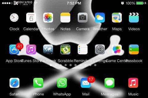 landscape springboard on iPhone