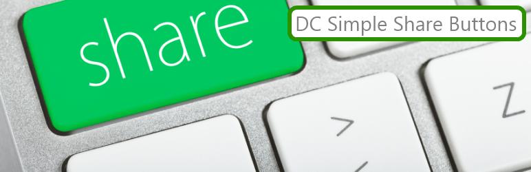 DC Simple Share Buttons: Lightweight Social Sharing Worpress Plugin