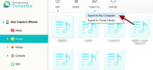export iphone playlists to computer