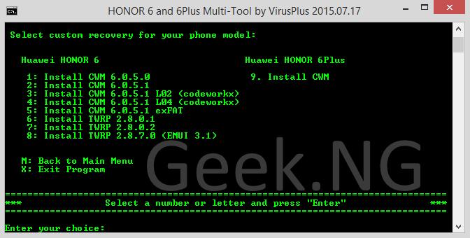 install CWM 9