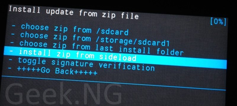 install zip from sideload