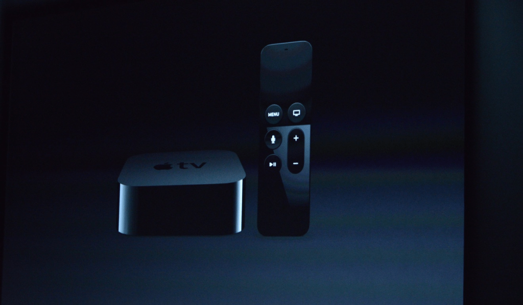 Apple TV with redesigned remote