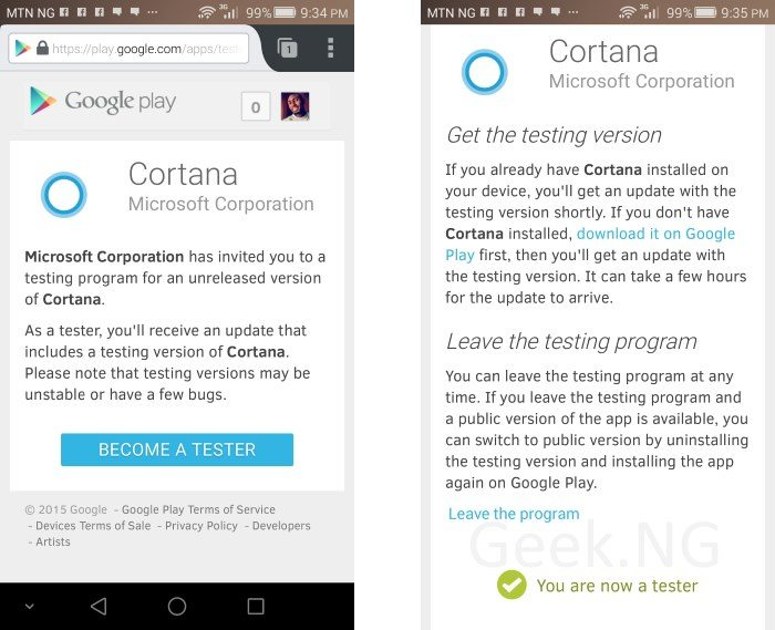 cortana for android beta