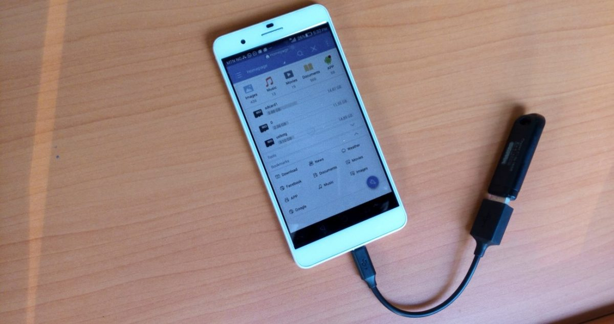 Using a flash drive with an android device