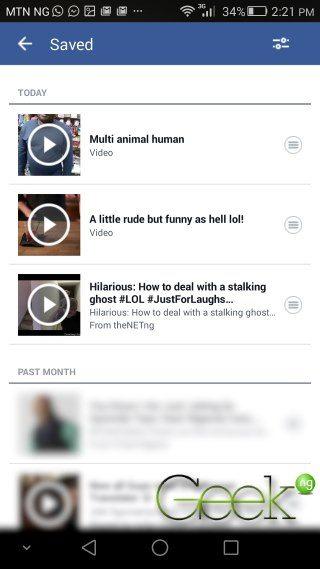 saved facebook videos