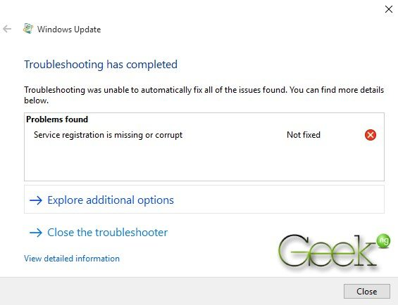 troubleshoting failed error 0x80080008
