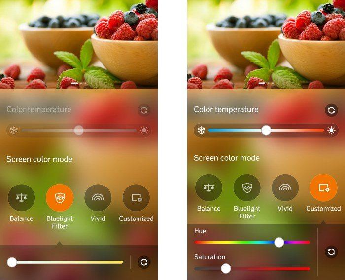 display settings on asus zenfone selfie