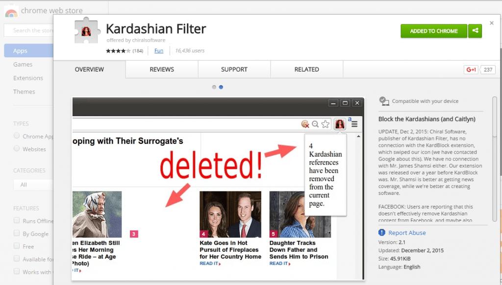 kardashian filter