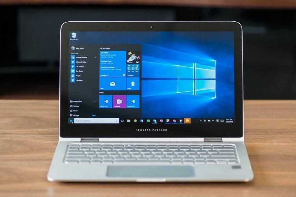 A laptop running Windows 10