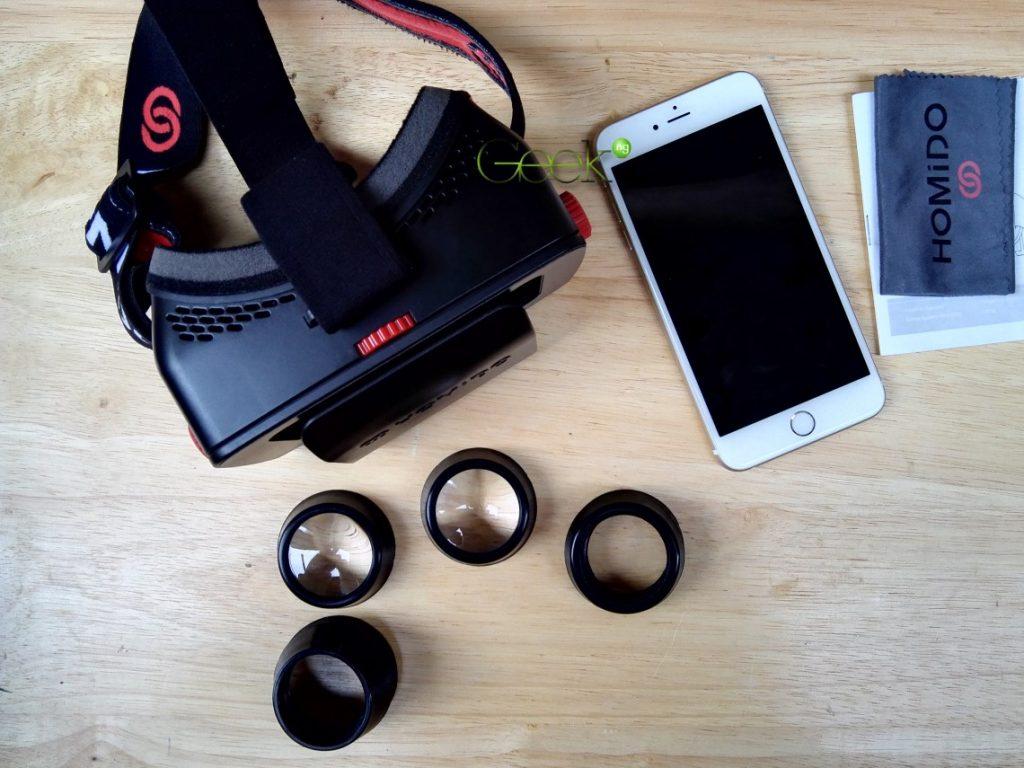 homido vr headset accesories