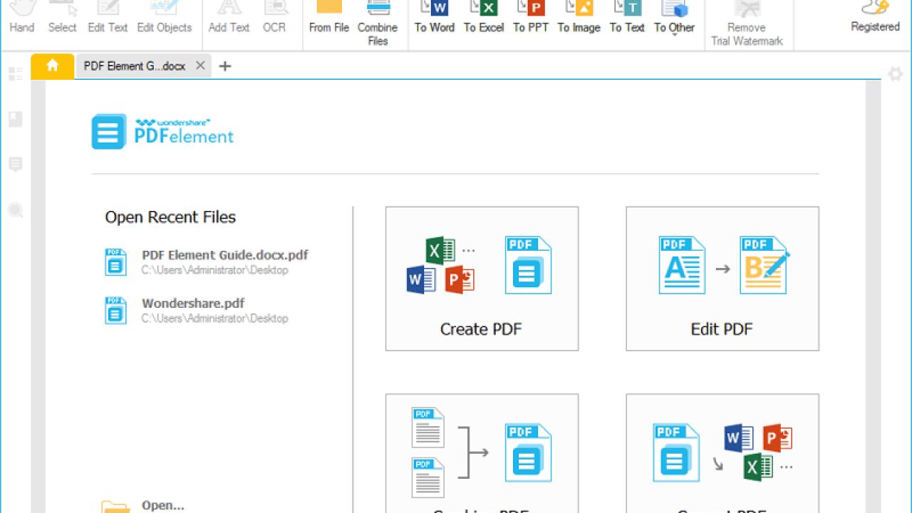 Wondershare PDFelement 9 Crack Full Version Registration Code