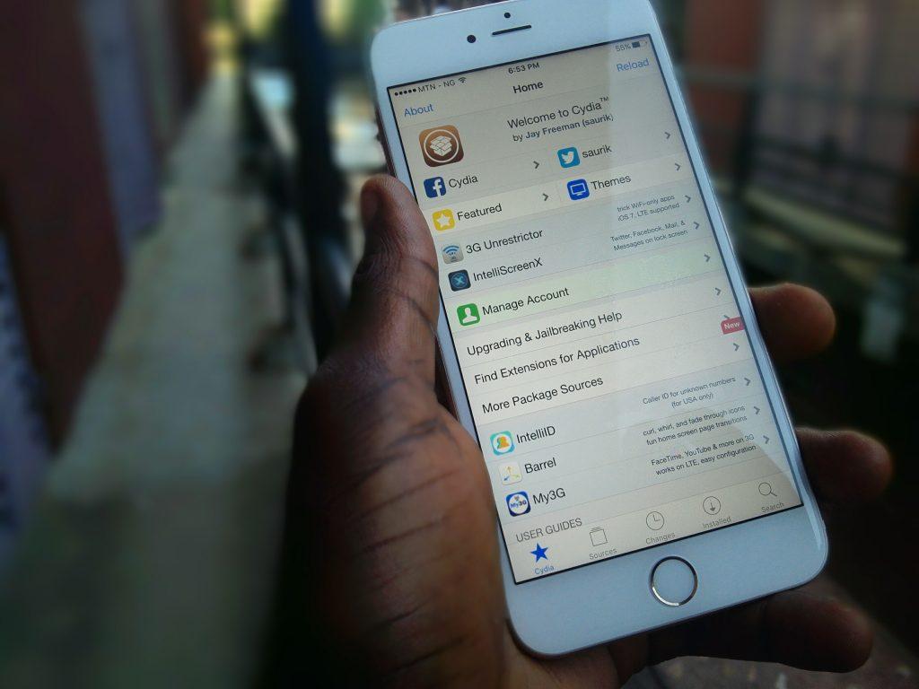 jailbroken iPhone 6s plus