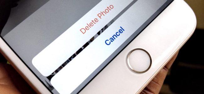 iphone delete photo