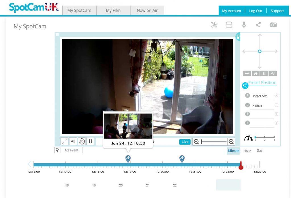 Spotcam eva web