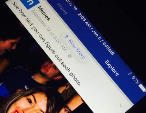 Facebook explore tab