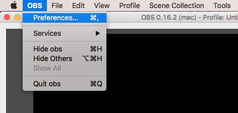 OBS Studio settings