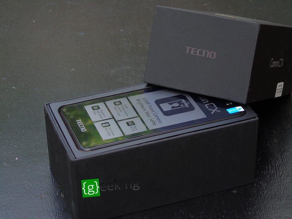 tecno camon cx box opened